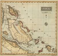 Vintage Map of The Bahamas (1823)