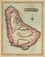 Vintage Map of Barbados (1823)
