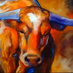 """LONGHORN 125"" by MBaldwinFineArt2006"