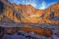 First Light at Chasm Lake