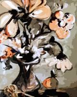 Modern Floral Still life Peach and Beige
