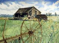 Barn & Wagon Wheel