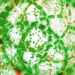 """Green industrial abstract"" by gavila"