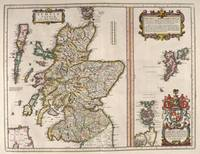Vintage Map of Scotland (1654)