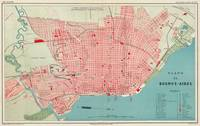 Vintage Map of Buenos Aires Argentina (1888)