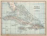 Vintage Map of The Caribbean (1893)