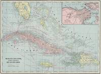 Vintage Map of The Caribbean (1901)