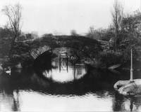 Vintage Photograph of A Central Park Bridge (1915)