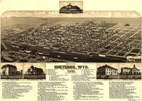 Vintage Pictorial Map of Cheyenne Wyoming (1882)