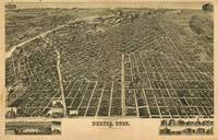 Vintage Pictorial Map of Denver CO (1889)
