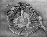 Liberty Island Black and White Photograph (1921)