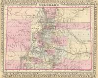 Vintage Map of Colorado (1880)