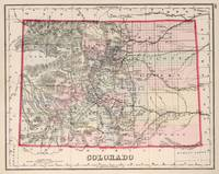 Vintage Map of Colorado (1884)