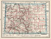 Colorado Counties Map (1893)