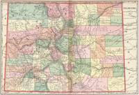 Colorado Map of Cities (1901)