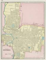 Vintage Map of Columbus Ohio (1901)