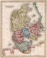 Vintage Map of Denmark (1838)