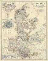 Vintage Map of Denmark (1861)