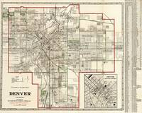 Vintage Map of Denver Colorado (1920)