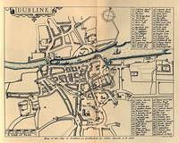 Vintage Map of Dublin Ireland (1610)