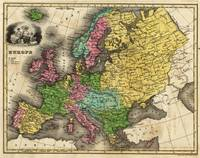 Vintage Map of Europe (1842)