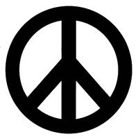 Black & White Peace Sign Symbol