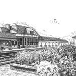 """Western Springs Train Station"" by marypalmer"