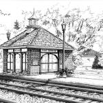 """West Hinsdale Train Station"" by marypalmer"