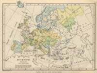 Vintage Map of Europe (1905)