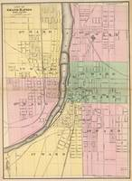 Vintage Map of Grand Rapids Michigan (1873)