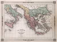 Vintage Map of Greece and Italy (1852)