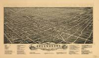 Vintage Pictorial Map of Greensboro NC (1891)