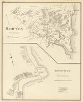 Vintage Map of Hampton Beach NH (1892)