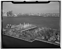 Ellis Island and NYC Harbor Photograph