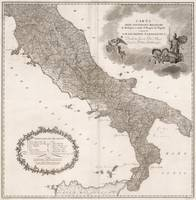 Vintage Map of Italy (1808)