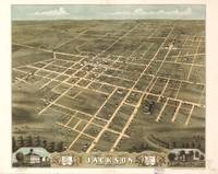 Vintage Map of Jackson Tennessee (1870)