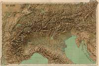 Vintage Map of Northern Italy (1899)