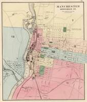 Vintage Map of Manchester New Hampshire (1877)