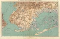 Vintage Map of Jamaica Bay and Brooklyn NY (1891)