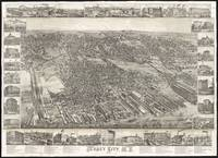 Vintage Map of Jersey City NJ (1883)
