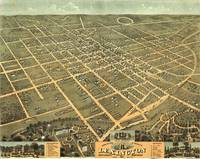 Vintage Pictorial Map of Lexington Kentucky (1871)