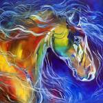 """COLOR MY WORLD WITH HORSES no.2"" by MBaldwinFineArt2006"