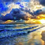 """Ocean Sunset Landscape Beautiful Beach Sunrise"" by eszra"