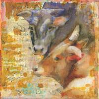 Forever Friends | mixed media | cow art