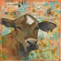 Baleful Eyes | mixed media | cow art