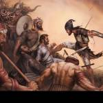 """Battle of Chamkaur-24x16-BlackBelt"" by bhagatsingh"