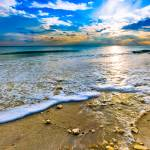 """Panoramic Beach Sunset Paradise Ocean Landscape"" by eszra"