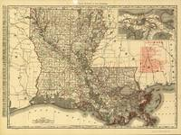 Vintage Map of Louisiana (1896)