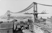 Construction of The Manhattan Bridge (1909)