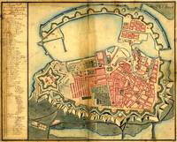 Vintage Map of Copenhagen Denmark (1728)